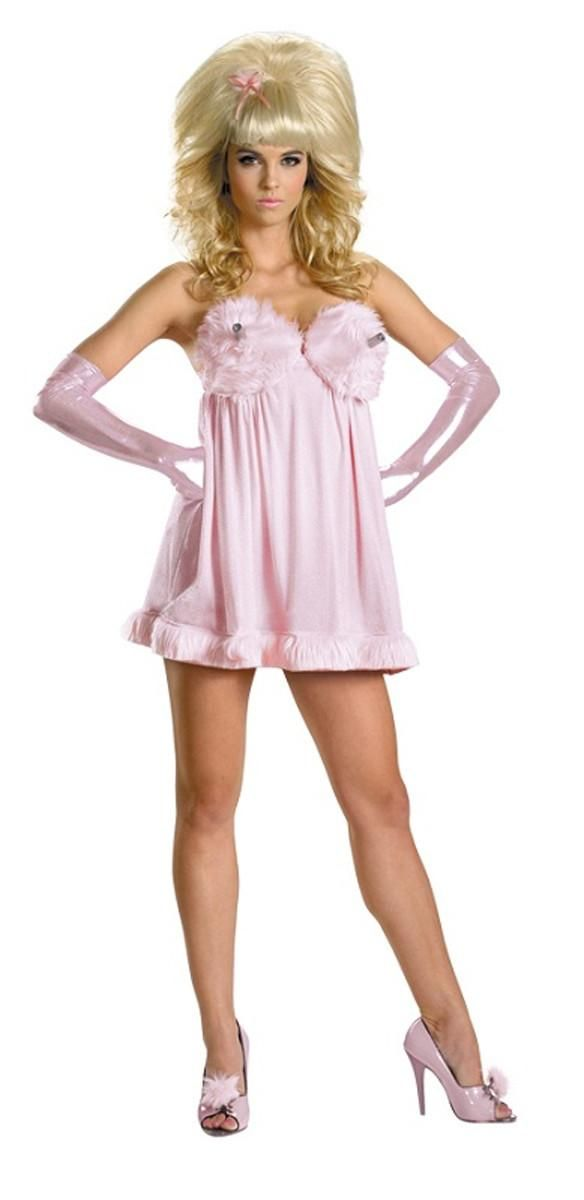 Be the sweetest princess looking for her prince in the Disney Deluxe Sexy Aurora Adult Costume Dress.