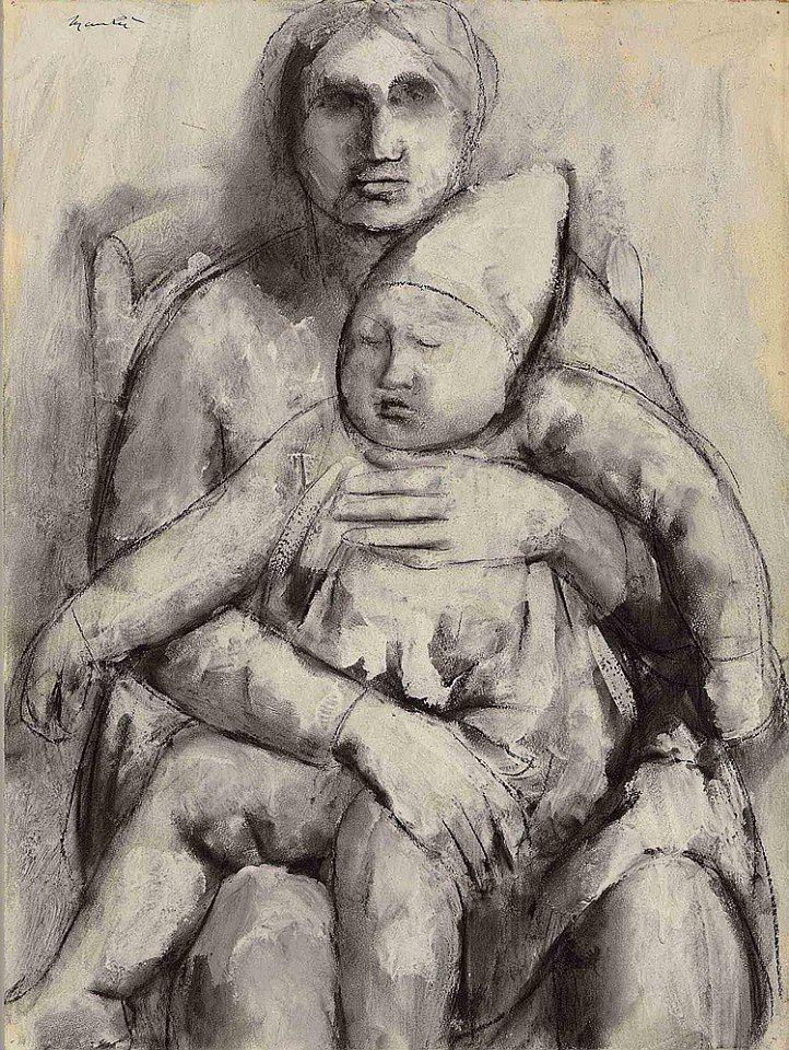 Giacomo Manzu (1908-1991) Madre e figlio