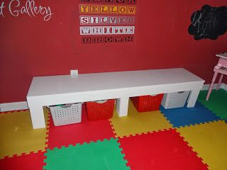 This Home of Ours: DIY KIDS TABLE AND BENCH