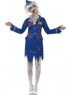 Zombie Air Hostess Costume at funnfrolic.co.uk - £19.09