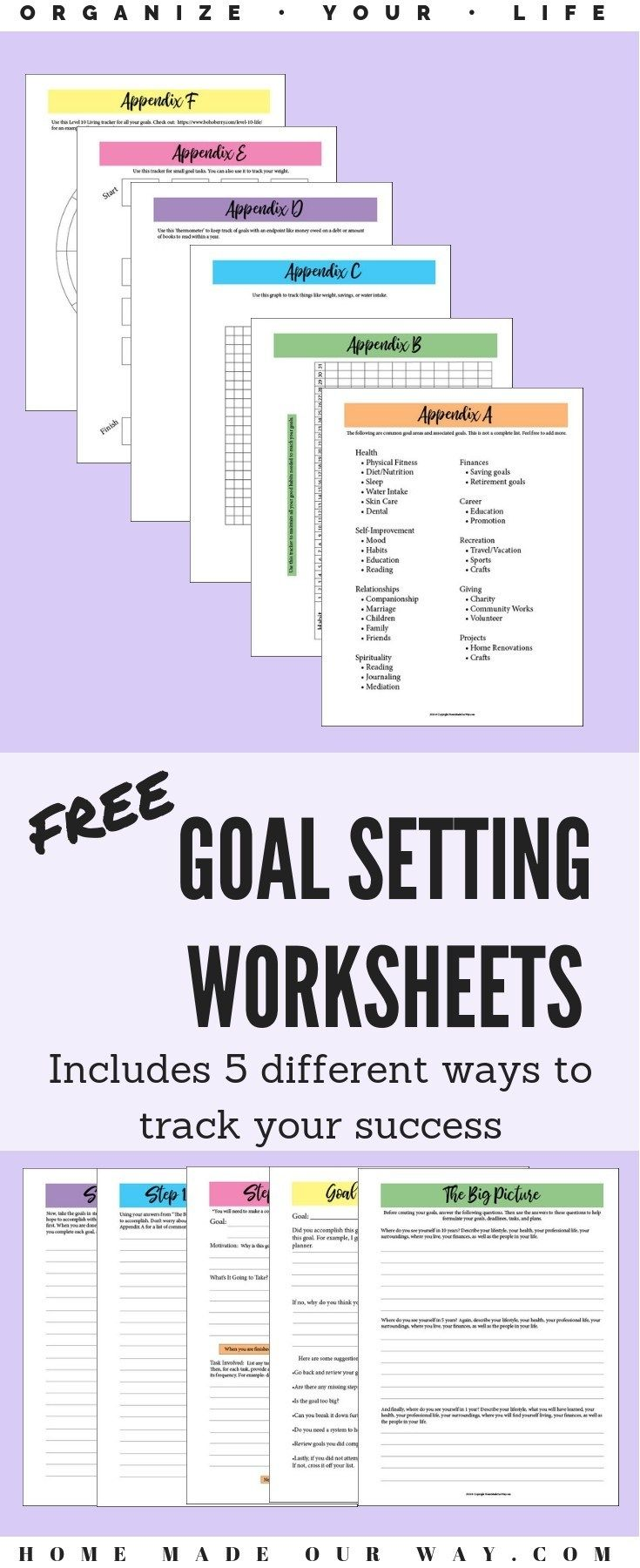Free Goal Setting Worksheets For A Successful Year Any Time Free Goal Setting Worksheet Goals Worksheet Smart Goals Worksheet
