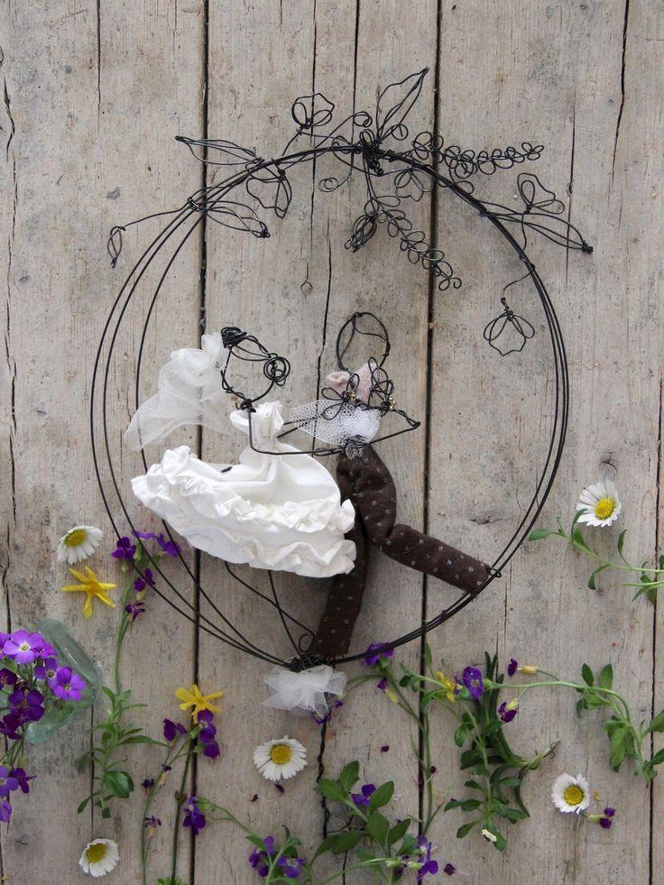 Wedding cake topper botanico : Altre arti di filidipoesia
