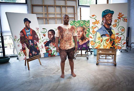 Kehinde Wiley in his Beijing studio.