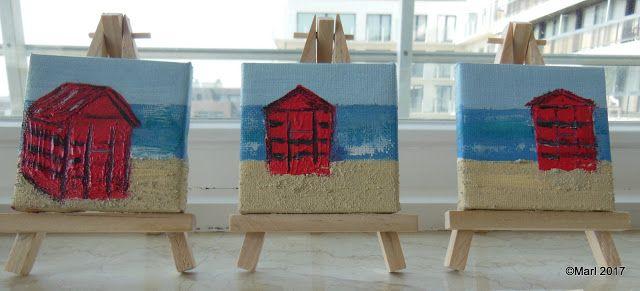 Kom binnen in de Kunstgalerie van Marl.Decoratieve schilderijen: 17-240 mini paintings inspiration of the sea