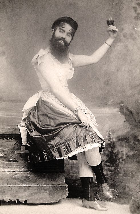 vintagegal:  Annie Jones (1860 – 1902) was an American bearded woman, born in Virginia. She toured with showman P. T. Barnum as a circus att...