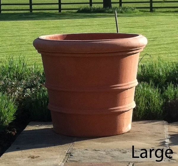big terra cotta pots | ... large terracotta pots the florentine italian terracotta planter is