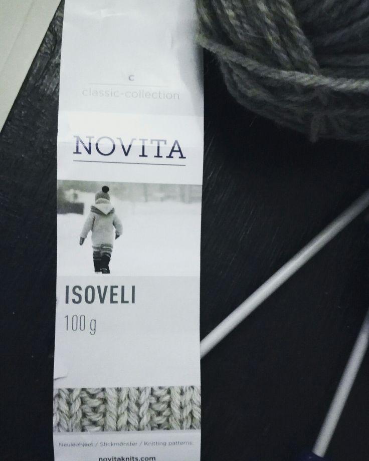 Vilttiprojektin aloitus ja tämähän on ihanaa!#knitting#novita