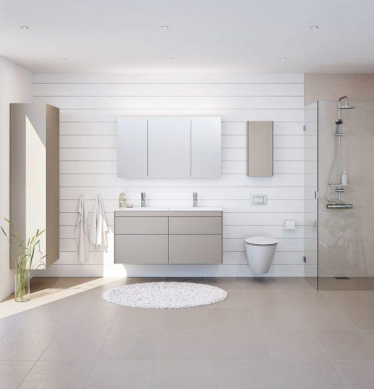 lyse nordiske farver giver stemning på badeværelset skabe og møbler fra ifö sense