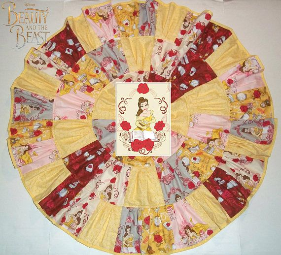 Beauty and the Beast Belle Twirl Skirt Inspired Girls Outfit