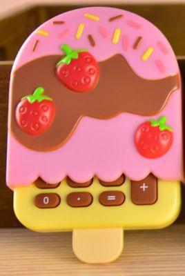 calculadora sorvete ice cream calculator Cute Cartoon Kawaii calculator school supplies 9.5X6.5CM 40g calculadora-in Calculator from Office & School Supplies on Aliexpress.com | Alibaba Group