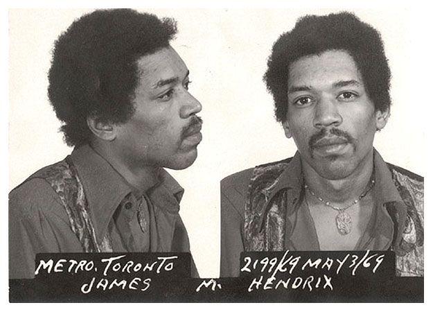 HendrixMusic, Hendrix Mugshots, Jimmy Hendrix, Airports, Jimi Hendrix, 1969, Mugs Shots, Mug Shots, Celebrities Mugshots