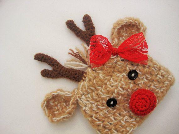 Crochet Reindeer Hat Baby Reindeer Hat by AdrisLittleCuties