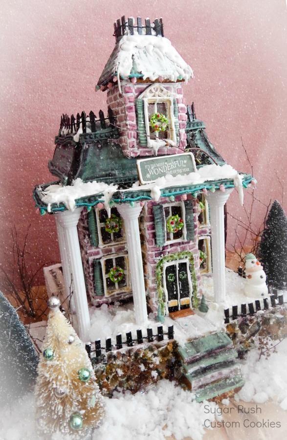 Victorian Gingerbread House - Cake by Kim Coleman (Sugar Rush Custom Cookies)
