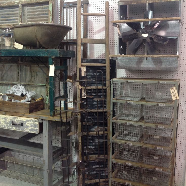 Vintage Old School Lockers, Industrial Workbench, Farm Tables, Shutters And  Windows.available At The Antique Market Place In Greensboro, NC.