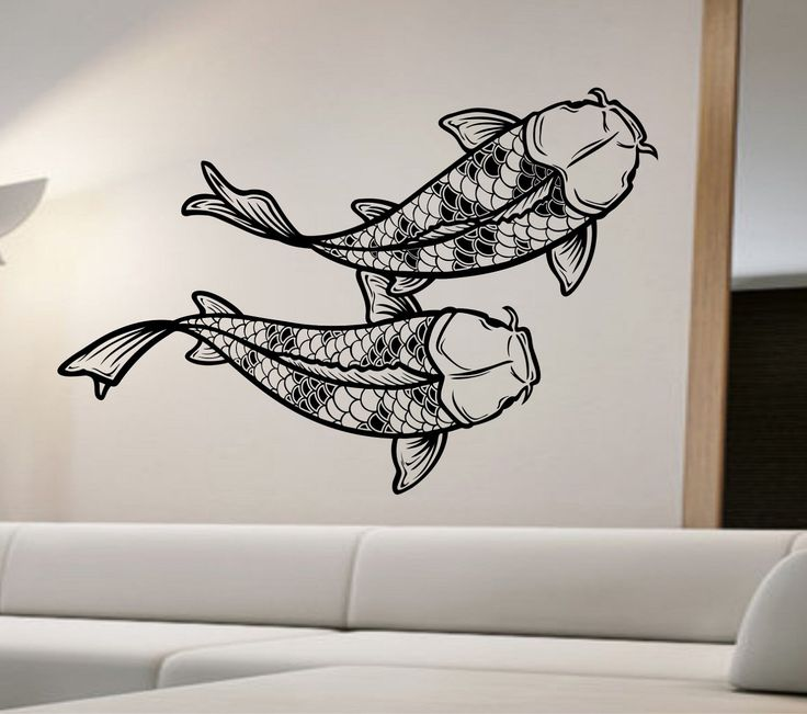 17 best images about wall decals on pinterest wall decal for Koi wall decal