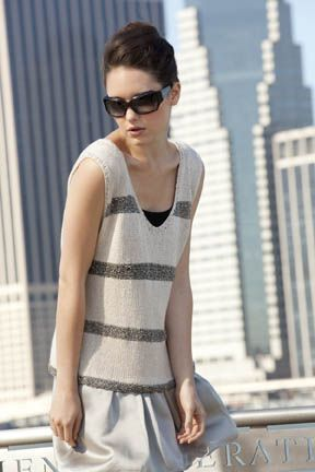 Elizabeth Striped Tank Top Free Knitting Pattern