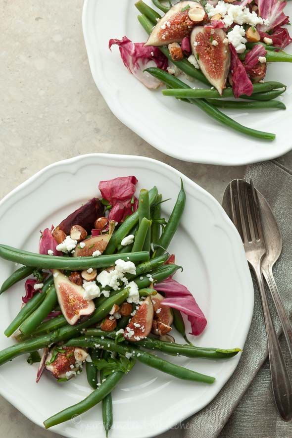 Salad with Toasted Hazelnuts and Goat Cheese or Feta Green Beans Salad ...
