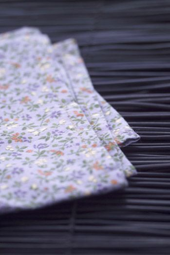 petite #serviette de #table Liberty #bleu au motif #fleu