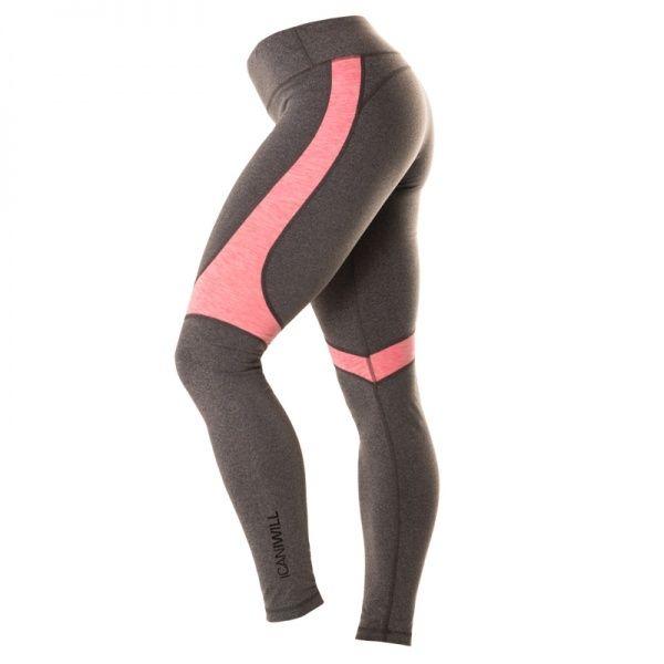 Melange Insert Tights Dame - Grey / Pink  Superbehagelig og fresh tights fra ICANIWILL.