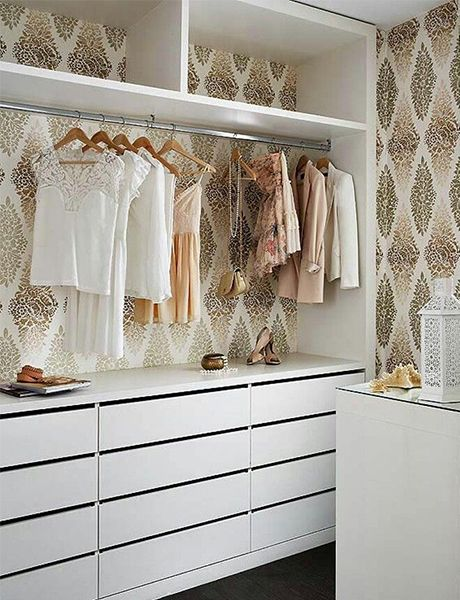 Wall Paper In The Closet. I Love Creating A Closet With As Much Detail And  Style That You Would Spend On The Rest Of Your Room.