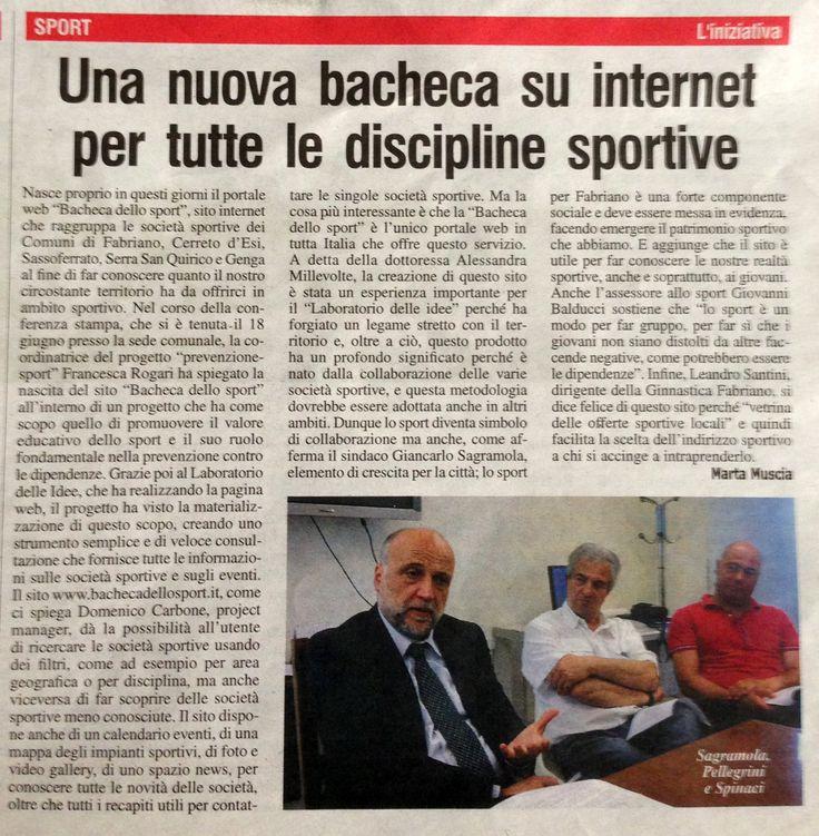 """Articolo su """"L'Azione"""" su www.bachecadellosport.it"""