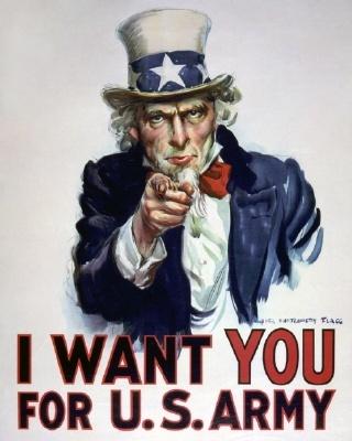 엉클 샘  (사무엘 윌슨)   '미합중국의 상징'   링컨 대통령의 이미지는 단순히 이후에도 반복적으로 등장했습니다. 엉클 샘은 영미전쟁에서부터 시작된 미국을 상징하는 캐릭터로 링컨에게서 구래나루와 턱수염을 따왔다고 합니다.   엉클 샘은 영미전쟁 이후에도 세계대전과 각종 국가 위기 때마다 청년들의 조국애를 고조시키고 단결할 수 있도록 만들었습니다.   엉클 샘에도 투영된 링컨의 모습을 통해 그가 얼마나 미국인들로 부터 사랑받는지 알 수 있습니다.