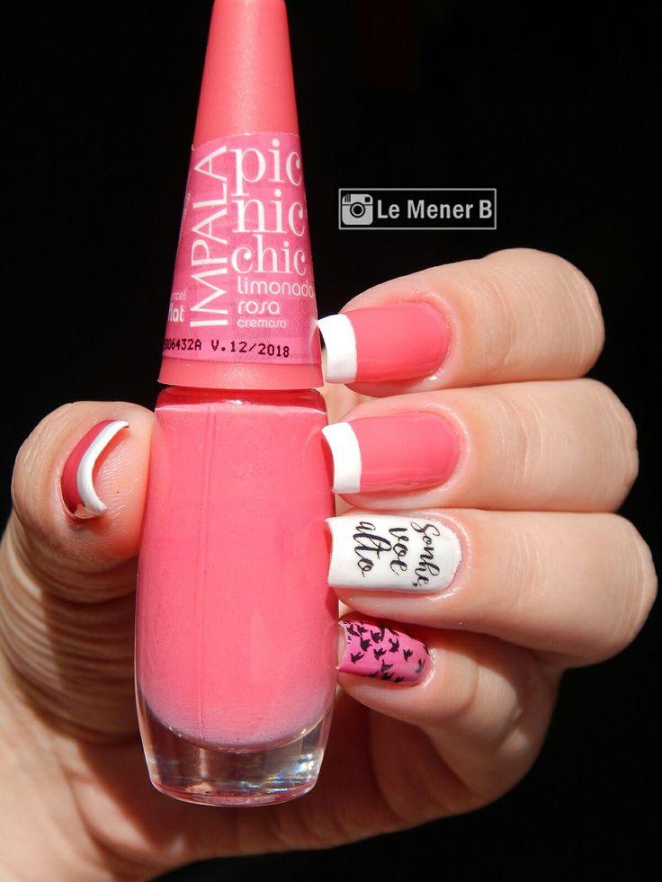 #unha #unhas #nail #nails #nailart #naildesign #esmalte #esmaltes #unhadecorada #cores #picnicchic #bird #passaros #pelicula #pink #rosa #polish #glaze #nailpolish #girl #manicure #mani #fashion #beauty #neon #inglesinha #francesinha #esmalterosa