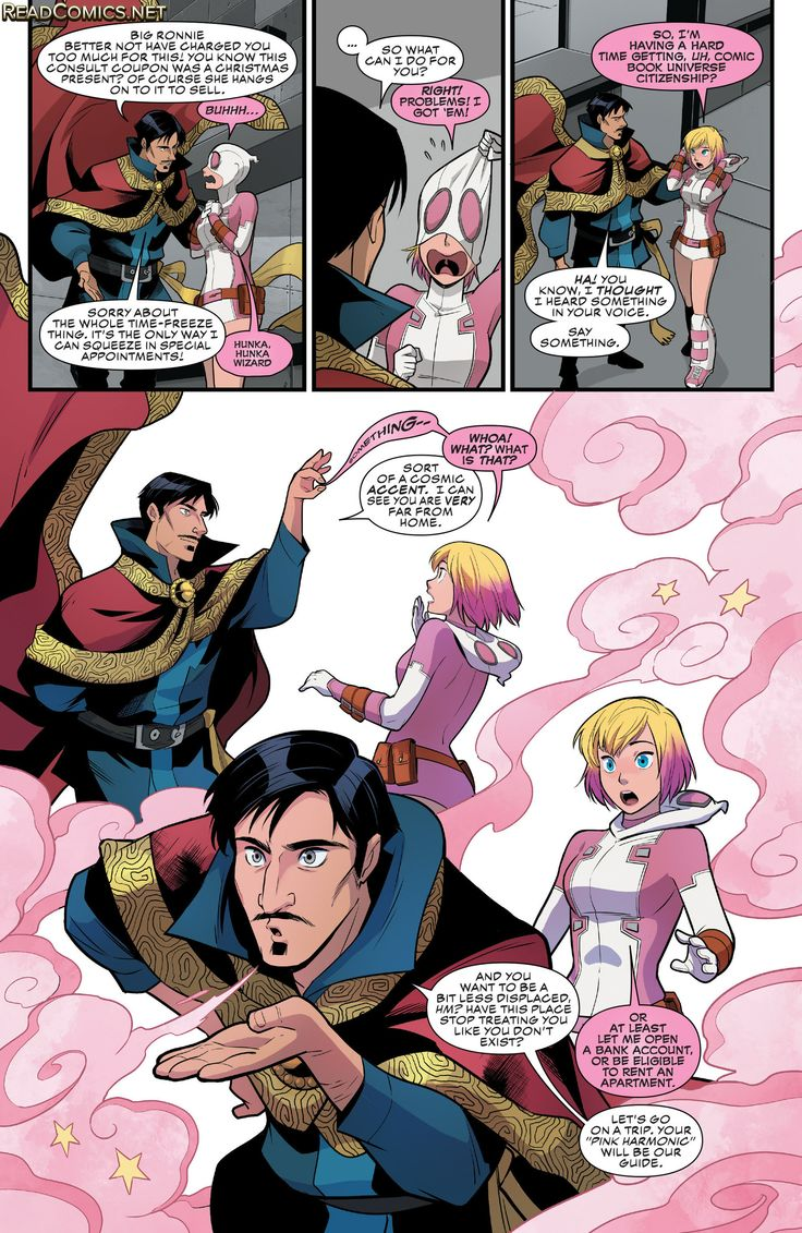 The Unbelievable Gwenpool 3 Page 13 Dr. Strange YES! breaking it like a paper wall