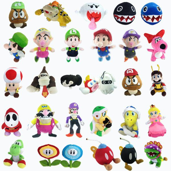 Super Mario Bros Lemmy Bowser Koopa Toad Waluigi Plush Toy