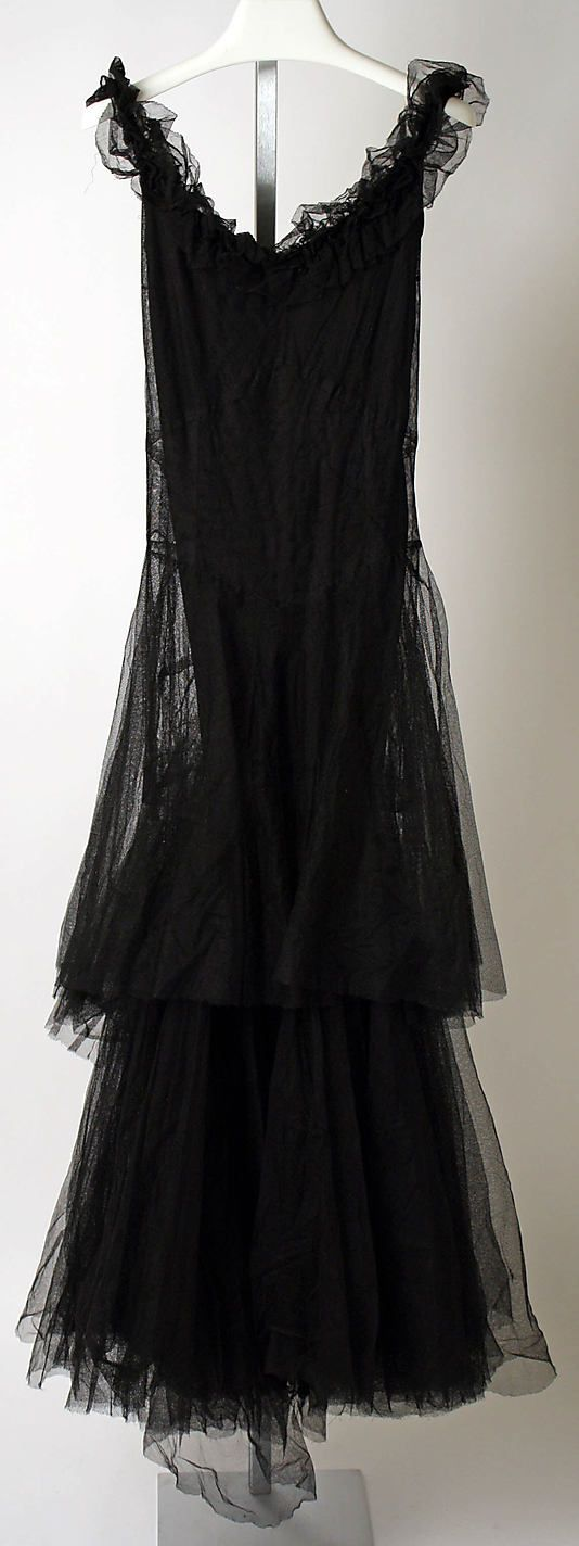 Chanel Dress - 1930's - House of Chanel (French, founded 1913) Design by Gabrielle 'Coco' Chanel (French, 1883-1971) - Silk - @~ Mlle
