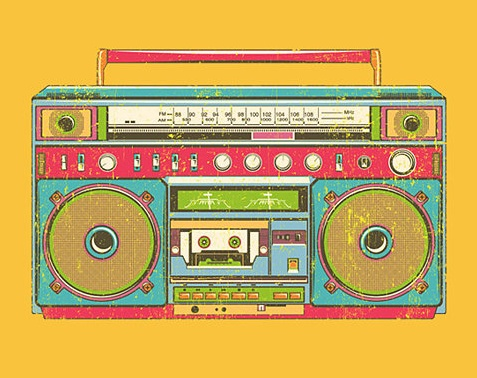 ...: Radios Vintage, Vintage Colors, Vintage Wardrobe, Illustration, Graphics Design, Vintage Boombox Drawings, Radios Drawings, Boom Boxes, Vintage Radios