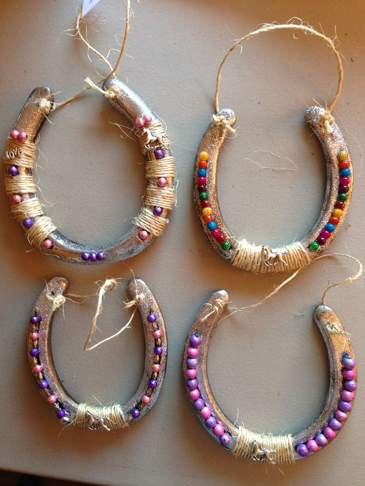 Decorated horseshoes