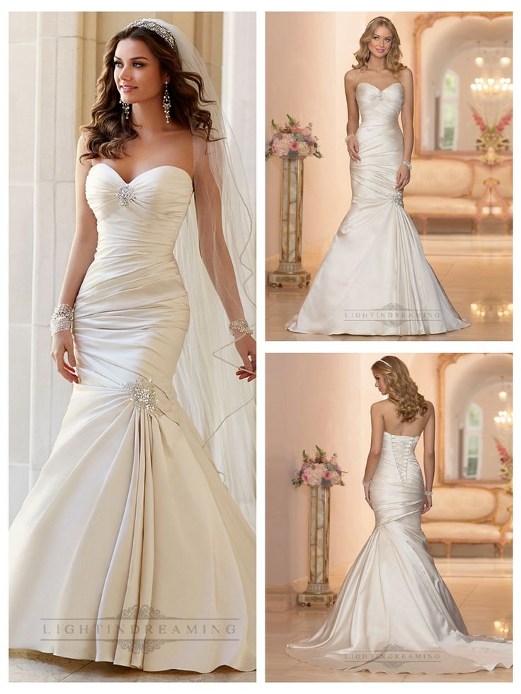 Embellishment Sweetheart Neckline Asymmetrical Ruched Fit and Flare   Wedding Dresses http://www.ckdress.com/embellishment-sweetheart-neckline-asymmetrical-  ruched-fit-and-flare-wedding-dresses-p-408.html  #wedding #dresses #dress #lightindream #lightindreaming #wed #clothing   #gown #weddingdresses #dressesonline #dressonline #bride