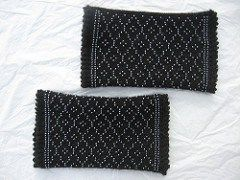 beaded wrist warmers | blackcatdesigns