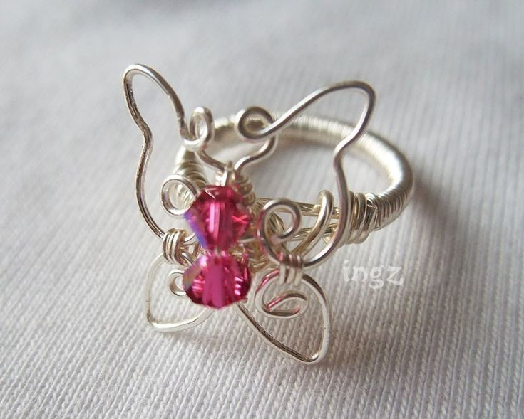 Wire Jewelry Tutorials | Wire Jewelry Tutorial Butterfly Ring by ingz on Etsy