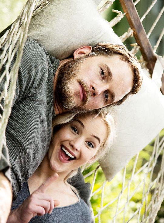 Chris Pratt and Jennifer Lawrence in Passengers (2016) http://www.hotportsmouthescorts.co.uk/