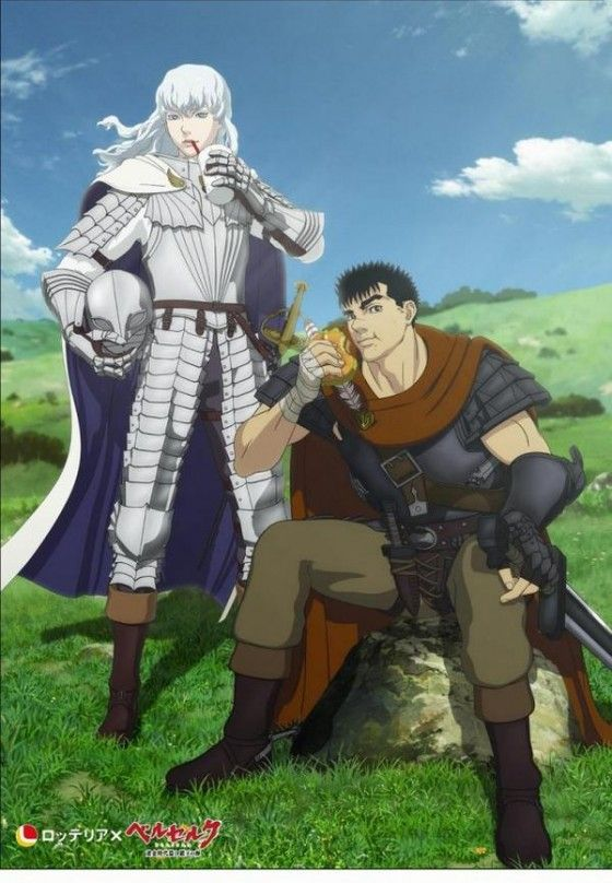 Berserk characters, Guts and Griffith, promote Lotteria, a popular fast food joint in Japan.