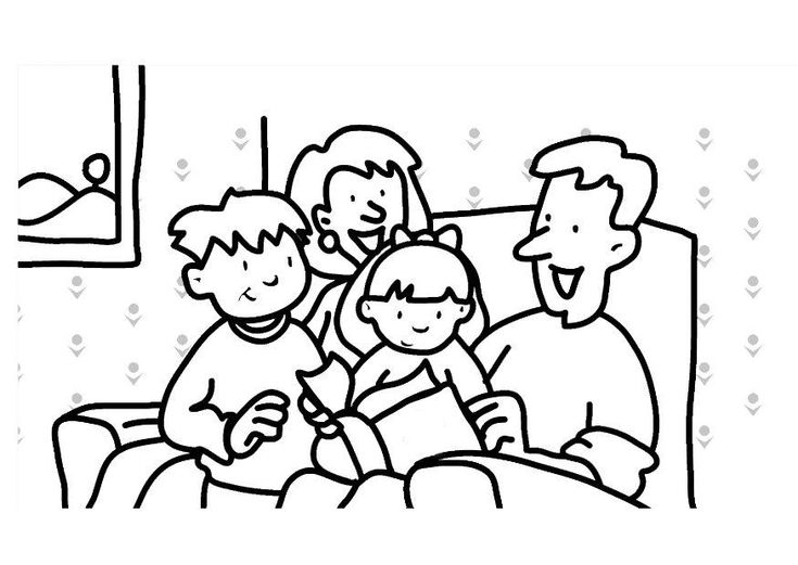 family coloring pages for kids enjoy coloring