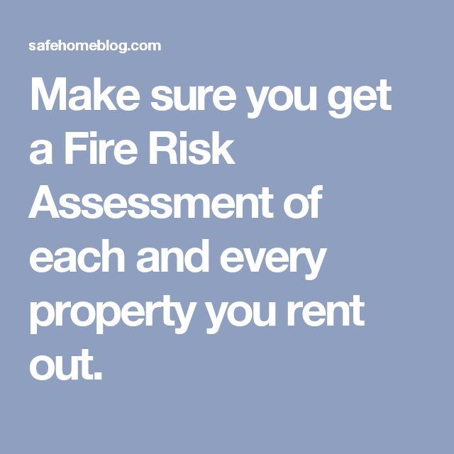 The  Best Fire Risk Assessment Ideas On   Health And