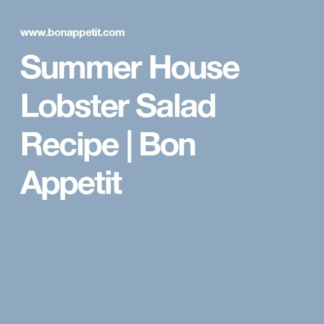 + ideas about Lobster Salad on Pinterest | Lobster Recipes, Lobster ...