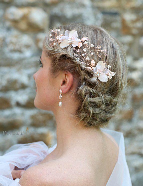 Bridal headpiece Wedding hair piece Bridal hair piece Bridal hair accessories Bridal hair vine Wedding hair pins Gold bridal hair pins