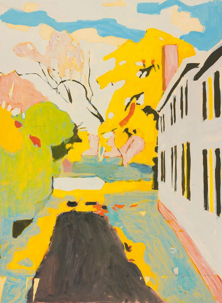 "fairfield porter, ""the driveway"" // the colors"