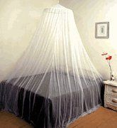 "Nicamaka Ready Net No See um by Nicaqmaka. $59.00. ? White Only ? Fits King Size Bed ? Ultimate Protection with No See Um Netting 520 Holes per Square Inch. ? Functional Single-Point Bed Canopy ? 30"" Top Ring - 8' high 40' Base ? No Openning ? 520 Holes per Square Inch ? Easy Packing ? Travel Net ? Ceiling Hook Included ? Great Mosquito Protection. The ""Ready Net"" mosquito net - bed canopy provides essential protection against mosquitoes and other pesky and dangerous ..."