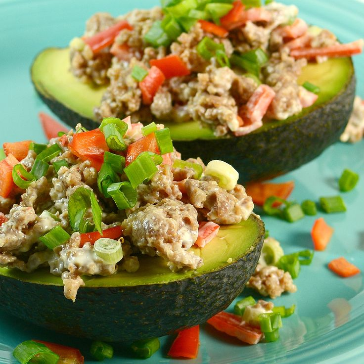 Avocado and Tuna Tapas Subbed Johnsonville Mild Itallian sausage for ...