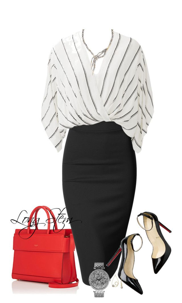 2/17/17 by longstem on Polyvore featuring Free People, Doublju, Givenchy, Caravelle by Bulova, Alexis Bittar and Christian Louboutin