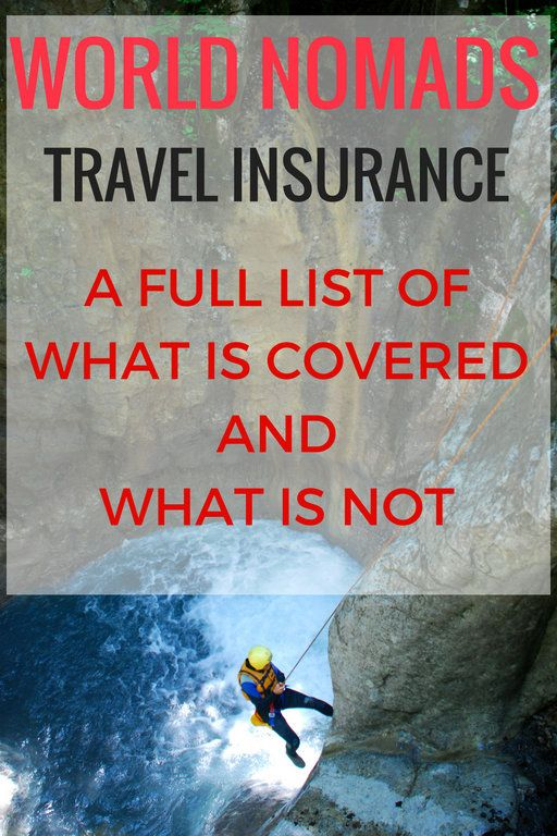 What is Covered on World Nomads Travel Insurance and What is Not Covered. If you're gearing up for a trip abroad, travel insurance should be on your radar. When I travel outside India, I use World Nomads and have for over 4 years. I found it originally because it is the insurance Lonely Planet recommends. Many more big names do too like Rough Guides. You need to know that not everything is covered on the basic plans so I want to get into what is covered on World Nomads travel insurance.