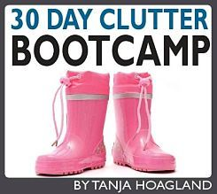 This blog, theminimalistmom.com has a lot of how to on cutting back on clutter, owning stuff and paying down debt.