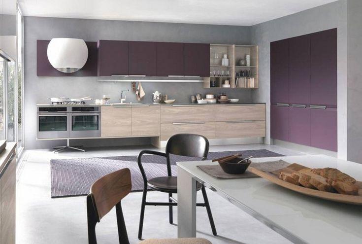 17 best ideas about armoire murale cuisine on pinterest armoires murales armoire murale and for Peinture couleur aubergine