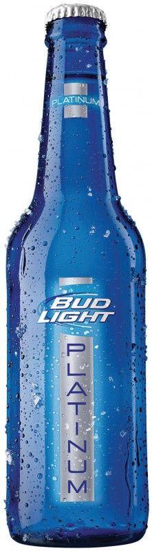 Cerveja Bud Light Platinum, estilo Lite American Lager, produzida por Anheuser-Busch, Estados Unidos. 6% ABV de álcool.