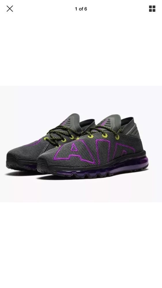 the latest 43984 6abcf Nike Air Max FLAIR UP GREY GRAY PURPLE VOLT MENS RUNNER NEW SIZE 8.5  AH9711-001  fashion  clothing  shoes  accessories  mensshoes  athleticshoes  (ebay link)